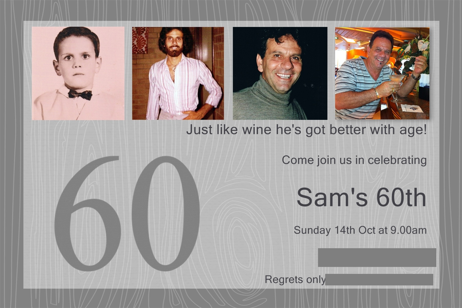 My Dad\'s 60th Birthday Invitations | thecreativemummy