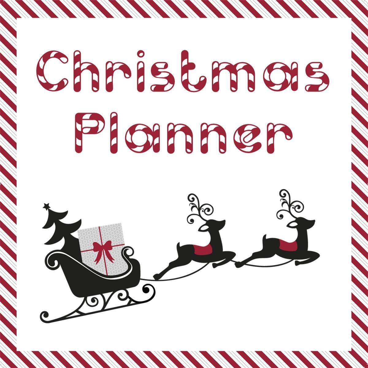 free christmas printable planner