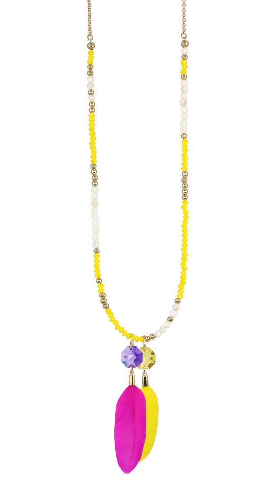 Beachcomber Yellow Pendant long necklace