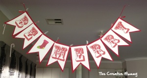 Be Merry Bunting - The Creative Mummy