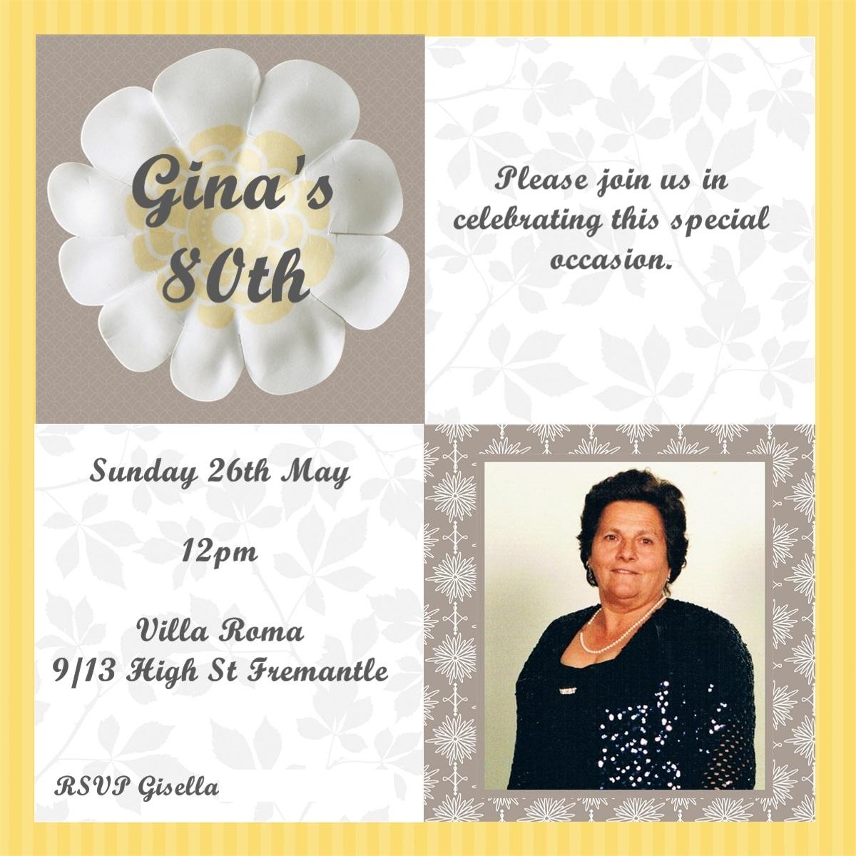 Nonna 80th Birthday Invitations | thecreativemummy