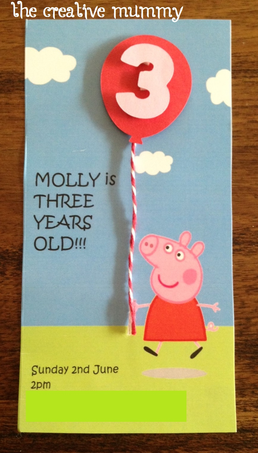 Mollys Peppa Pig Party